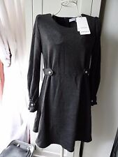 Jueduijiayi winter warm grey pleated cuff tent dress size 8-10 small brand new