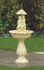 "Young Couple Garden Fountain electric yard patio deck decor with pump 42"" high"