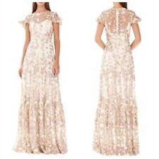 Monique Lhuillier Floral Embroidered Dress Size 2