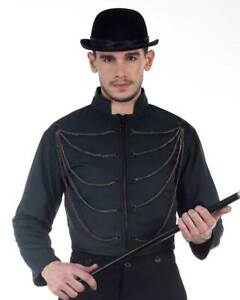 Men's Steampunk Chain Jacket, finest fabric, handmade one by one, very nice!!
