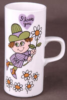 Vtg Smug Mugs Royal Crown Arnart I Love You By Kitty Porcelain-Coffee Tea Drink
