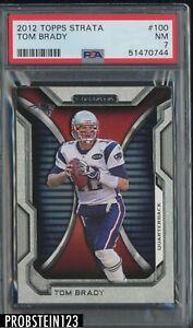 2012 Topps Strata #100 Tom Brady New England Patriots PSA 7 NM