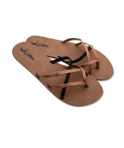 Volcom wms Flip Flop New School - brown combo - Neu & OVP