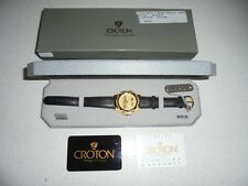 RARE MENS CROTON CUSTOM MADE CHEVROLET CORVETTE FACE/LEATHER BAND WATCH - NIB