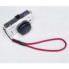 Rojo Cámara Nylon Mano Muñeca correa para Canon Nikon Panasonic Sony Fuji Samsung