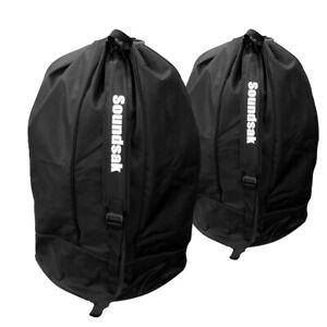 "Pair Universal 15"" Speaker Cabinet Bags Covers Fits Alto Mackie RCF Peavey FBT"