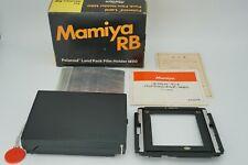 【UNUSED】 Mamiya M80 Polaroid Film Back W/ P Adapter for RB67,Universal  Japan