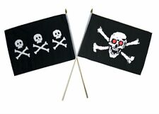 "12x18 12""x18"" Wholesale Combo Pirate Chris Condent & Red Eye Skull Stick Flag"