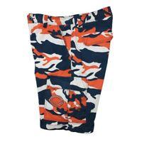 Chicago Bears Men's 34 Blue Orange Camo Camouflage Cargo Shorts NFL