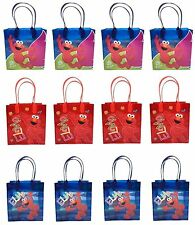 12PCS Sesame Street Elmo Licensed Goodie Party Favor Gift Birthday Loot Bags NEW