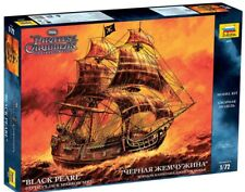 ZVEZDA 9037 Captain's Jack Sparrow Sailing Ship BLACK PEARL Model Kit  scale1:72