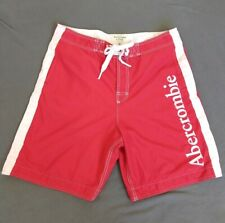ABERCROMBIE & FITCH Spellout Swim Trunks Board Shorts Water Sports Mens XL