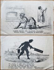 Black Women Cleaning w/Sapolio 1890 Victorian Trade Card - Soap
