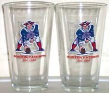New England Patriots Throwback Boston Patriots Logo Pint Glass Set (2 Glasses)
