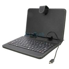 "Comfortable 7"" Inch PU Leather Mini USB Keyboard Case Cover for Tablet PC Black"