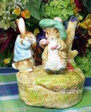 Beatrix Potter Benjamin Bunny Music box Musical rotates