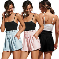 Womens Ladies Summer High Waist Casual Beach Hot Mini Pants Shorts Plain Beach