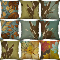 "18"" Vintage Plant Home Decor Cotton linen Pillow Case Sofa Cushion Cover"