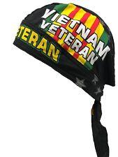 deb299b9a3aff Vietnam Vet Veteran Combat Stars Head Wrap Skull Cap Military Durag  Sweatband
