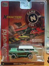 aw afx aurora rel 26 green n white 1955 mr chevy nomad ho slot car