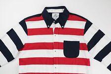 Brooks Brothers Black Fleece Mens Red White Blue Striped Cotton Shirt BB2 $195