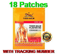 Tiger Balm Pain Relief Plaster 18 Patch Warm 10cm X 14cm Patches
