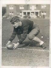 1930 Princeton Tigers Football Center Frank Blackistone Press Photo
