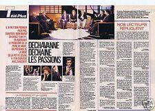 Coupure de presse Clipping 1989 Christophe Dechavanne  (2 pages)
