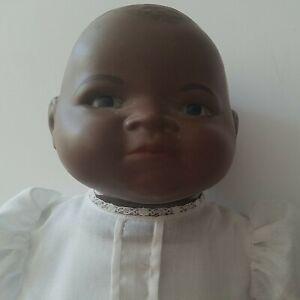 Vintage Bye-Lo Grace Putnam black African American bisque doll cloth body