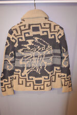 RRL Hand Knit Indian Head Cardigan Sweater - Small NWT Ralph Lauren