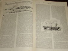 1899 ARTICLE SPANISH NAVAL CADETS ASTURIAS TRAINING