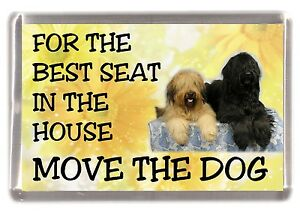 """Briard Dog Fridge Magnet  """"For the Best Seat ......."""" by Starprint"""