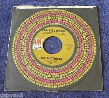 Lee Michaels 1971 A&M 45rpm Can I Get A Witness b/w You Are What You Do