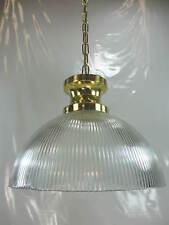 XXL Antik Stil Hängelampe Vintage Messing Deckenlampe Ø 35cm Glasschirm