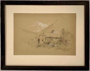 Listed Artist John Bunyan Bristol (1826-1909) Gallery Framed Inscribed Drawing