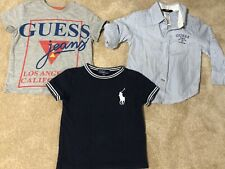 Boys Clothes Bundle Guess Ralph Lauren Shirts Size 2