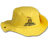 Yellow Gadsden Tea Party Dont Tread on Me Bucket Hat Cap NRA Trump