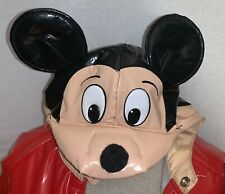 Vintage 1988 Disney Wear Mickey Mouse Red Raincoat Size 6x/7