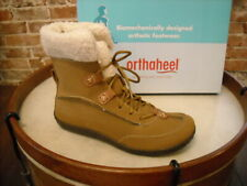 Orthaheel Emma Camel Brown Fur Collar Comfort Ankle Boot 5 36 NEW
