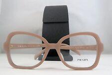 Prada VPR 25S-F UFF-1O1 Square Matte Pink New Authentic Eyeglasses 53mm w/Case