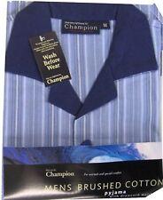 Striped Pyjama Sets Men's Button Front