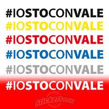 2 Adesivi #IOSTOCONVALE VR46 the doctor Valentino Rossi MotoGP stickers