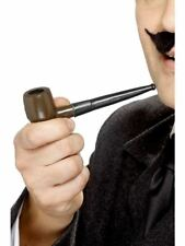 Smiffys Tales of Old England Plastic Smoking Pipe, Brown - Male