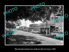OLD LARGE HISTORIC PHOTO OF MAREEBA QUEENSLAND, VIEW OF BYRNES ST & STORES c1960