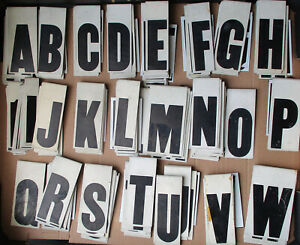 """Vintage Metal Hanging Sign Advertisement Letters Large Lot 343 4 1/4"""" Tall GUC"""