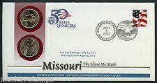 UNITED STATES 50 STATE QUARTERS MISSOURI  P & D OFFICIAL COMMEMORATIVE  COVER