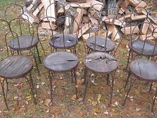 8 Antique Usa Wrought Iron Garden Patio Plant Stool Stand Art Chairs Pot Planter