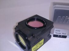 Filter fluorescence Nikon FITC TEXAS RED microscopio microscope