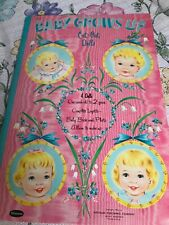 Baby Grows Up, 1955, uncut vintage paper dolls, Whitman excellent condition
