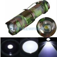 Mini CREE Q5 2000Lm LED 3 Modes Zoomable Focus Flashlight Torch Light Zoom Lamp